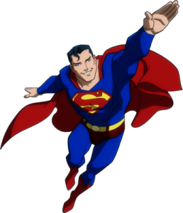 Flying-Superman-Young-Justice-psd67316